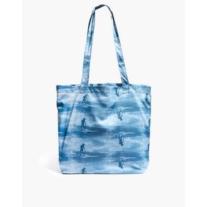 The Recycled Reusable Tote in Wave Rider